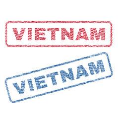 Vietnam textile stamps vector