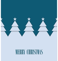 Vintage greeting card with Christmas trees vector image