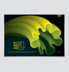 wavy lined flower abstract shape abstract art vector image