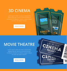webpage for buying cinema tickets vector image