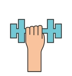 weight lifting gym isolated icon vector image