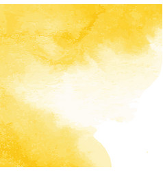 Yellow watercolor texture background hand painted vector