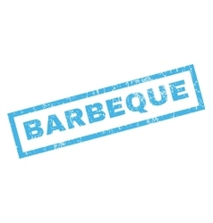 Barbeque Rubber Stamp vector image vector image