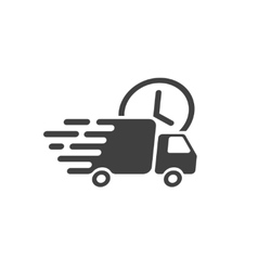 Delivery truck icon fast shipping cargo vector