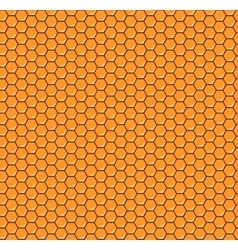 Orange honeycomb seamless pattern vector image