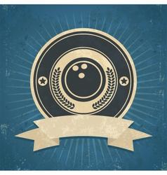 Retro Bowling Ball Emblem vector image vector image