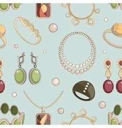 Jewelry set pattern vector image