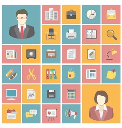 Modern office icons vector