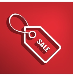 Sale tag flat icon vector image