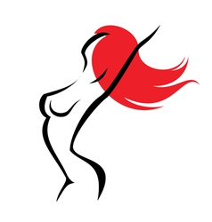 sexy woman isolated symbol vector image