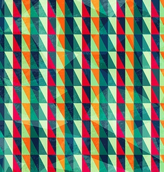 vintage triangle pattern vector image