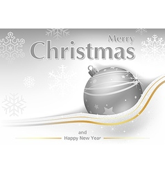 White Merry Christmas Greeting vector image