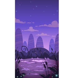 Cartoon vertical night landscape vector