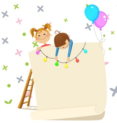 children party invitation contains transparency vector image