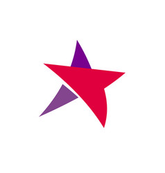 Fantastic isolated simple flat red and violet vector