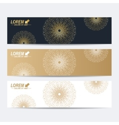 Modern set of banners Molecule and vector image