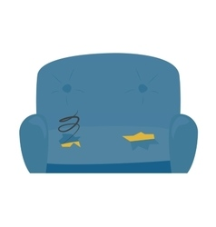 Old sofa vector image