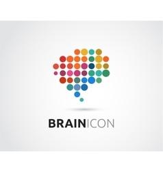 Brain creative mind head learning icon vector
