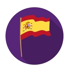 Flag of Spain icon in flat style isolated on white vector image