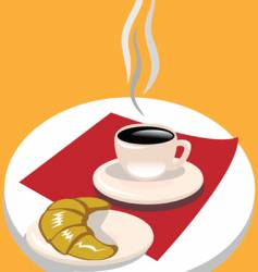 french breakfast vector image vector image