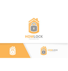 lock and real estate logo combination safe vector image vector image