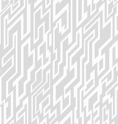 monochrome tech geometric seamless pattern vector image