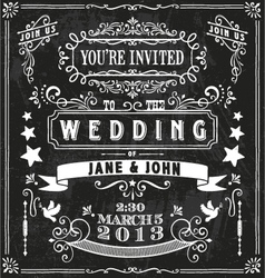 Wedding Invitation Elements vector image