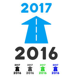 2017 future road flat icon vector image