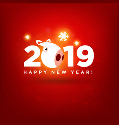 2019 happy new year chinese modern pig sign vector image