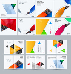 Abstract material design style of elements vector