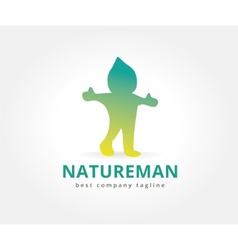 Abstract nature character logo icon concept vector image