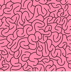 Abstract Seamless Brains Pattern vector