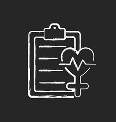 Access to healthcare chalk white icon on black vector