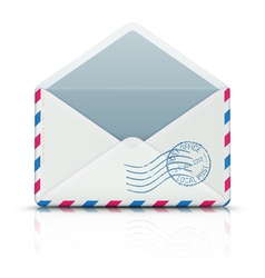 airmail envelope vector image
