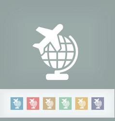 airplane travel icon vector image