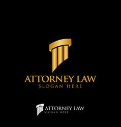 Attorney law pillar logo icon design template vector