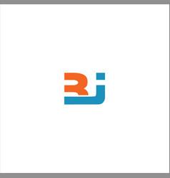 B j letter logo emblem design on black color vector