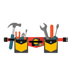 belt with tools conceptual image of tools for vector image