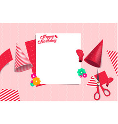 birthday party preparation template design element vector image