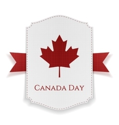 Canada Day national Banner with Ribbon vector