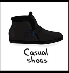 casual shoes vector image