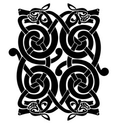 celtic national ornament vector image