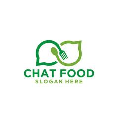 chat talk food logo vector image