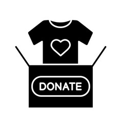 clothes donating glyph icon vector image