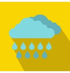 Cloud and rain icon flat style vector image