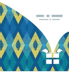 colorful fabric ikat diamond Christmas gift vector image
