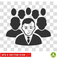Crowd EPS Icon vector