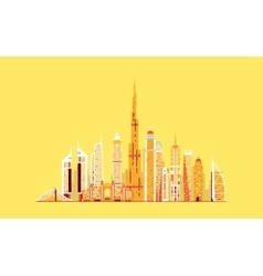 Dubai abstract skyline vector image vector image