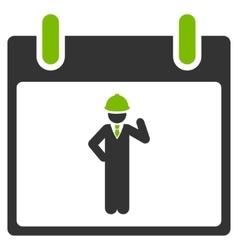 Engineer Calendar Day Flat Icon vector