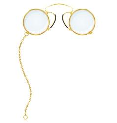 eyeglasses pince nez vector image